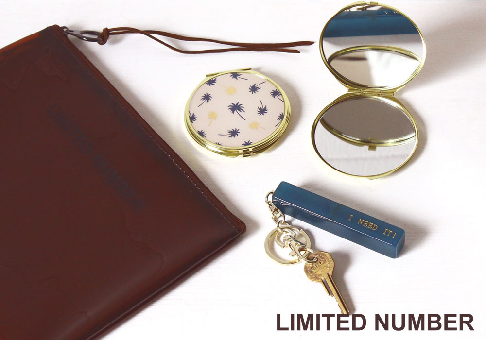 【LIMITED NUMBER】KEY CHARM / COMPACT MIRROR
