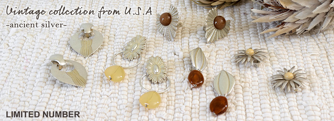 【LIMITED NUMBER】Vintage collection from U.S.A -ancient silver-
